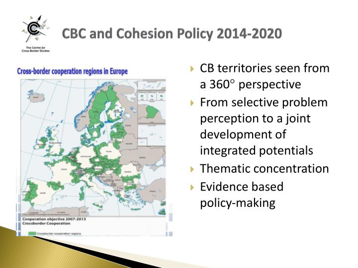 CBC and Cohesion Policy 2014-2020