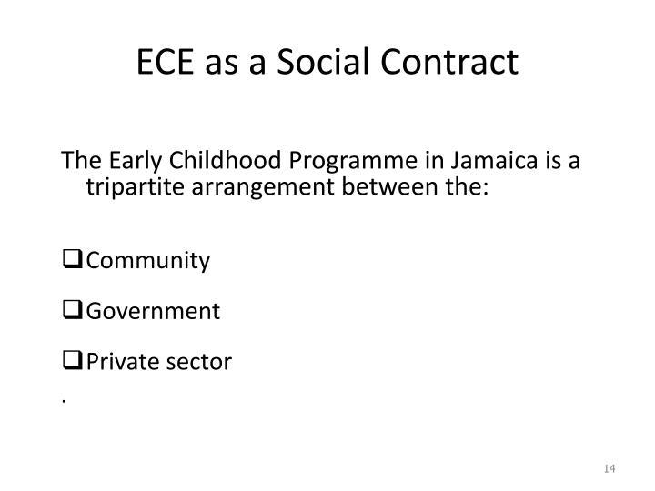 ECE as a Social Contract