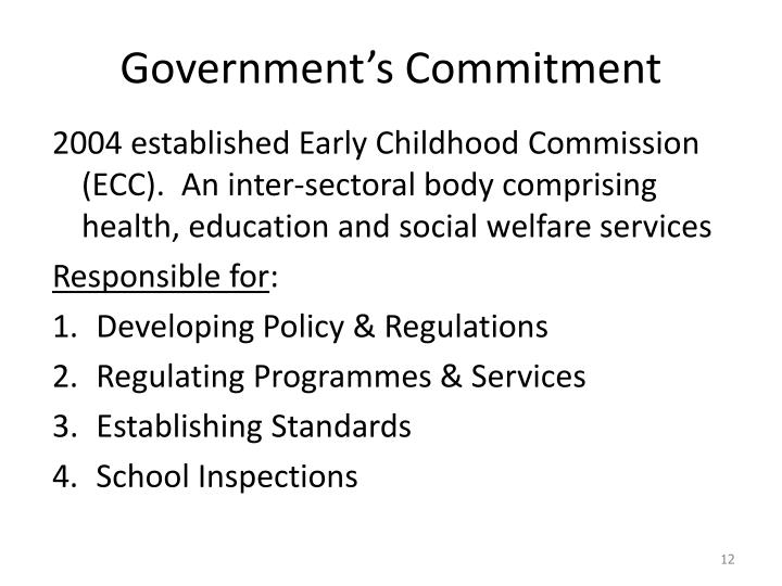 Government's Commitment