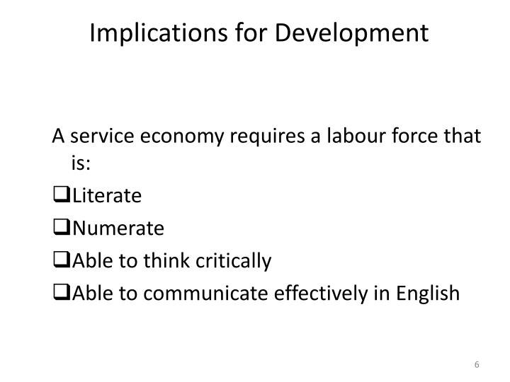 Implications for Development