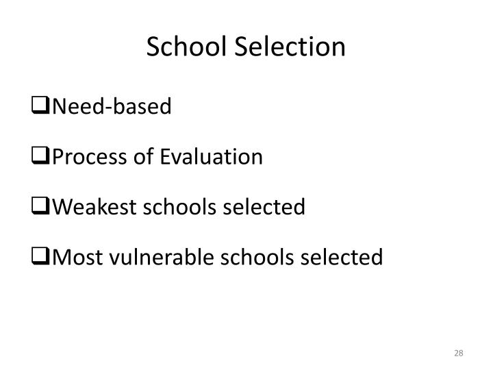 School Selection