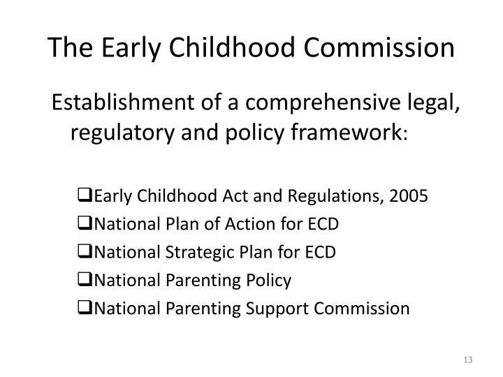 The Early Childhood Commission