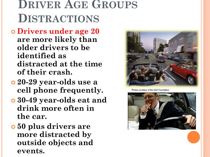 Driver Age Groups Distractions