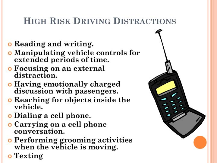 High Risk Driving Distractions