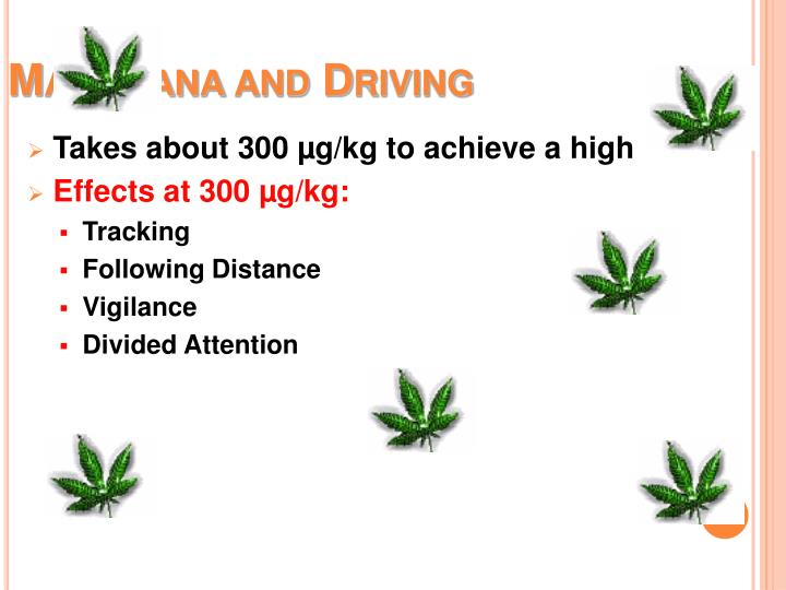Marijuana and Driving