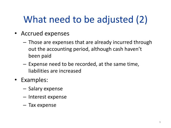 What need to be adjusted (2)