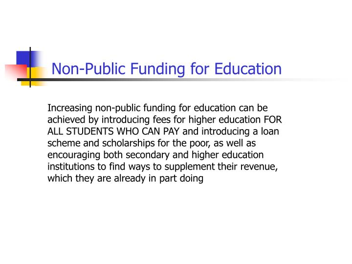 Non-Public Funding for Education
