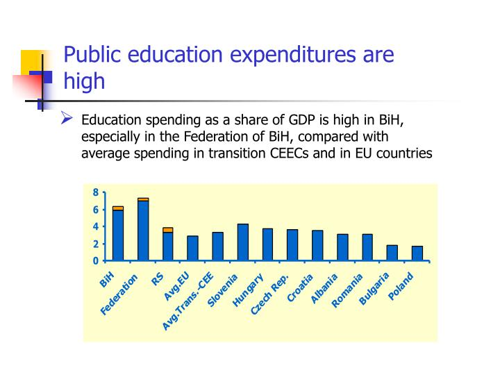 Public education expenditures are high