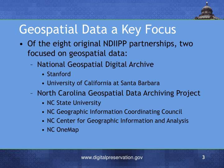 Geospatial Data a Key Focus