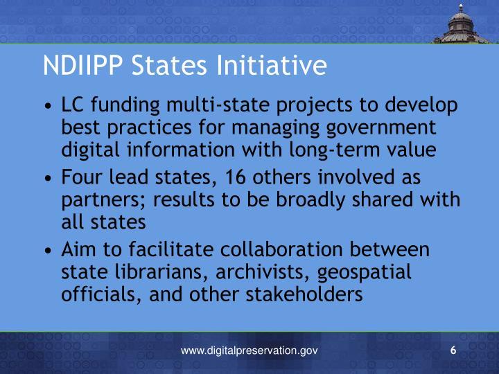 NDIIPP States Initiative