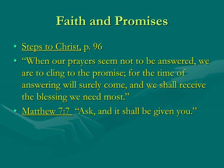 Faith and Promises