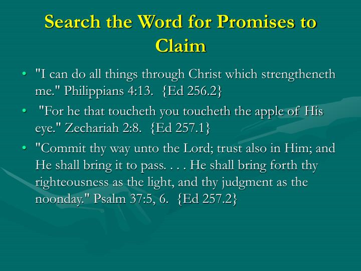 Search the Word for Promises to Claim