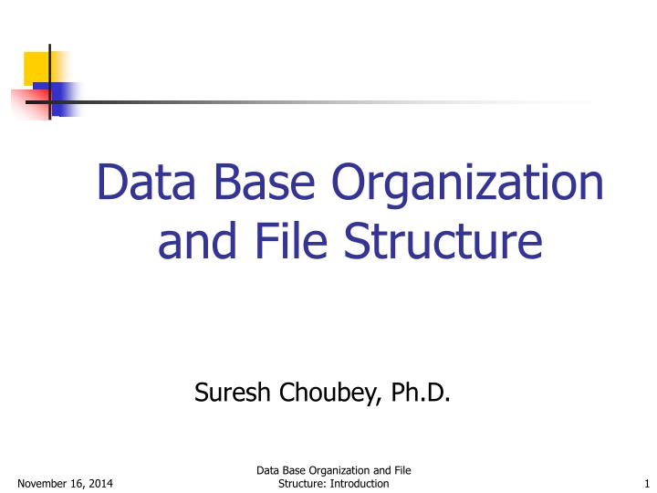 introduction to data management and file