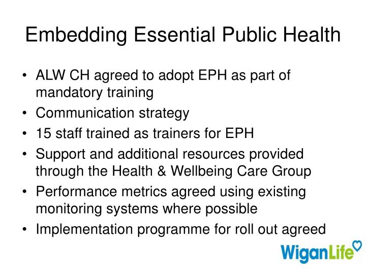 Embedding Essential Public Health