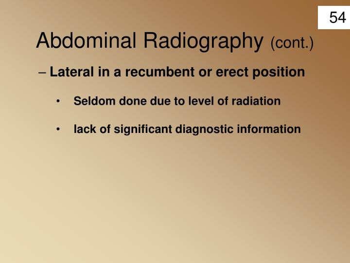 Abdominal Radiography