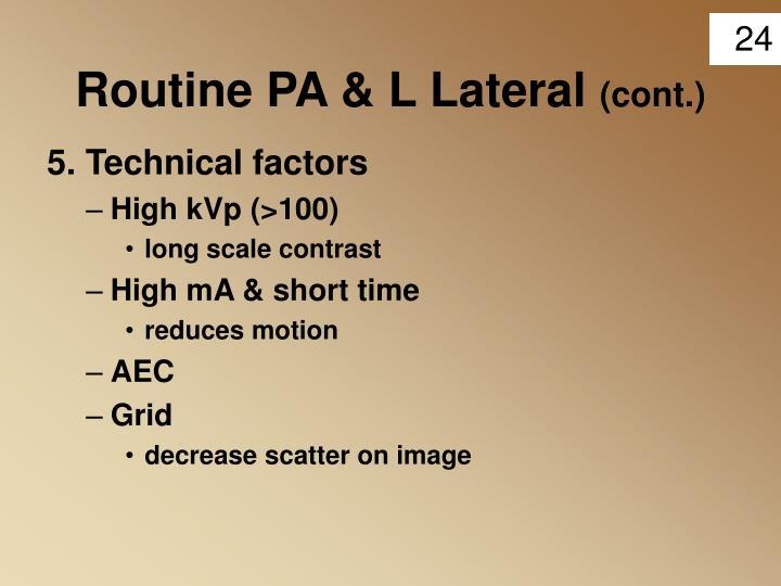 Routine PA & L Lateral