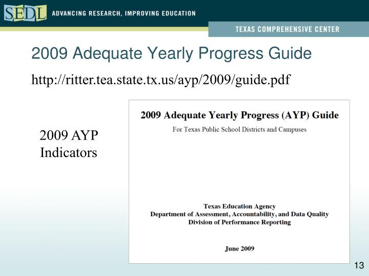 2009 Adequate Yearly Progress Guide
