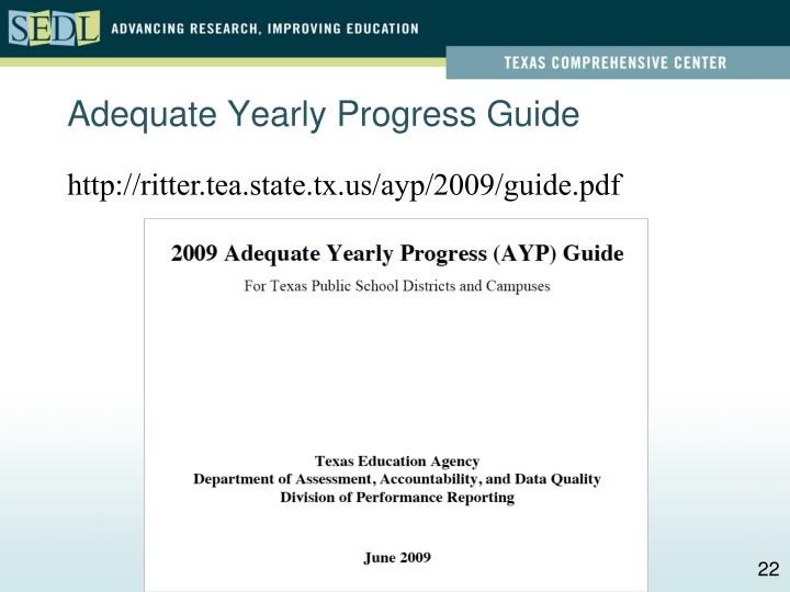 Adequate Yearly Progress Guide