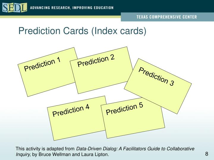 Prediction Cards (Index cards)
