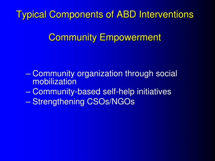 Typical Components of ABD Interventions