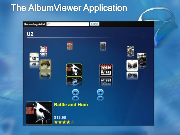 The AlbumViewer Application