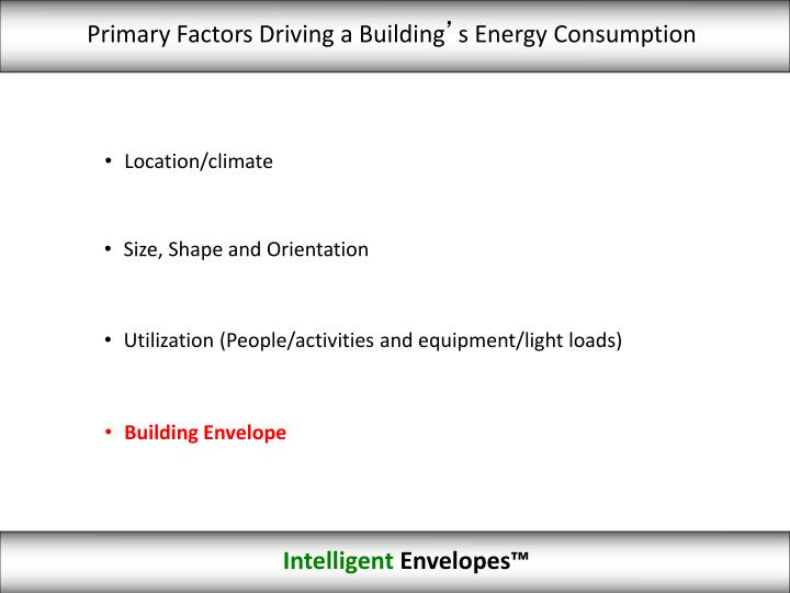 Primary Factors Driving a Building