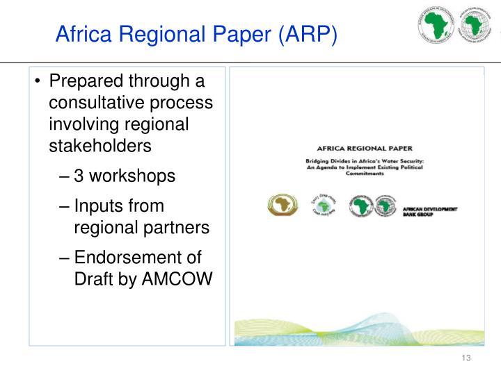 Africa Regional Paper (ARP)