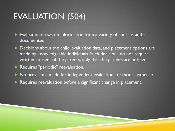 Evaluation (504)