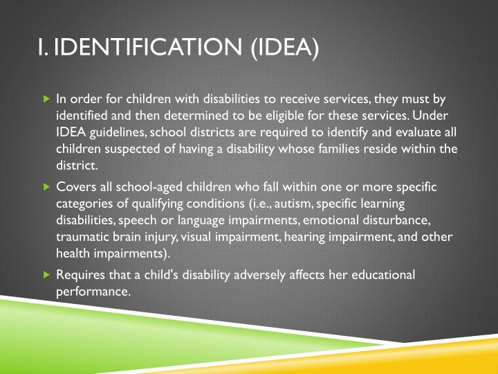 I. Identification (IDEA)