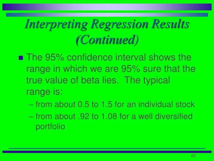 Interpreting Regression Results (Continued)