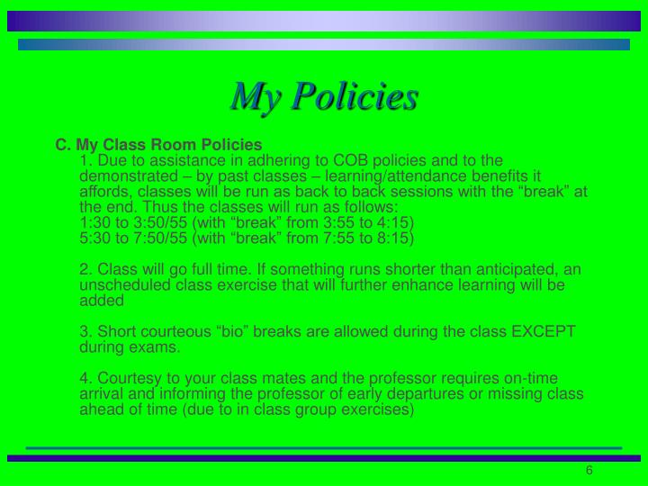 My Policies