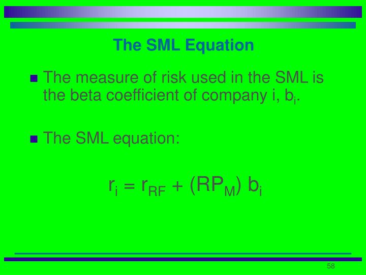 The SML Equation