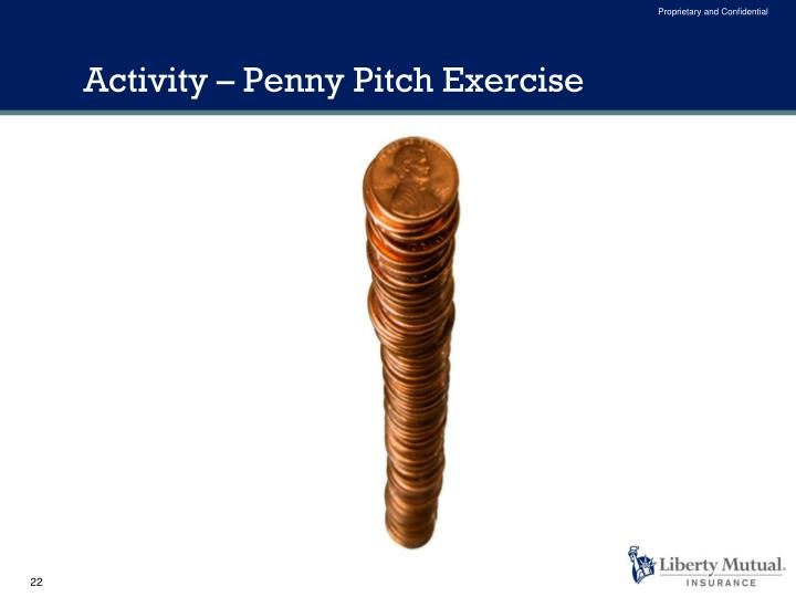 Activity – Penny Pitch Exercise