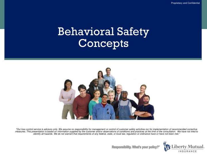 Behavioral safety concepts