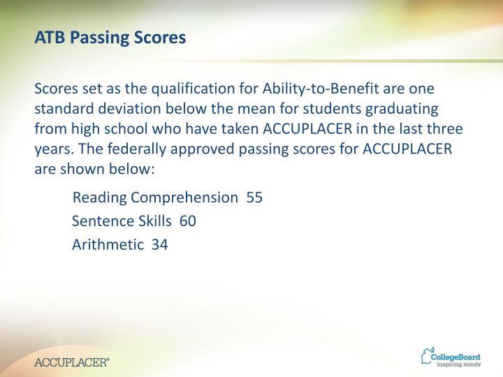 ATB Passing Scores