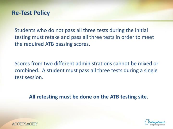 Re-Test Policy