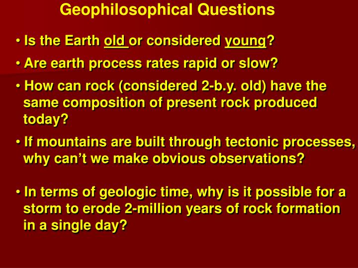 Geophilosophical Questions