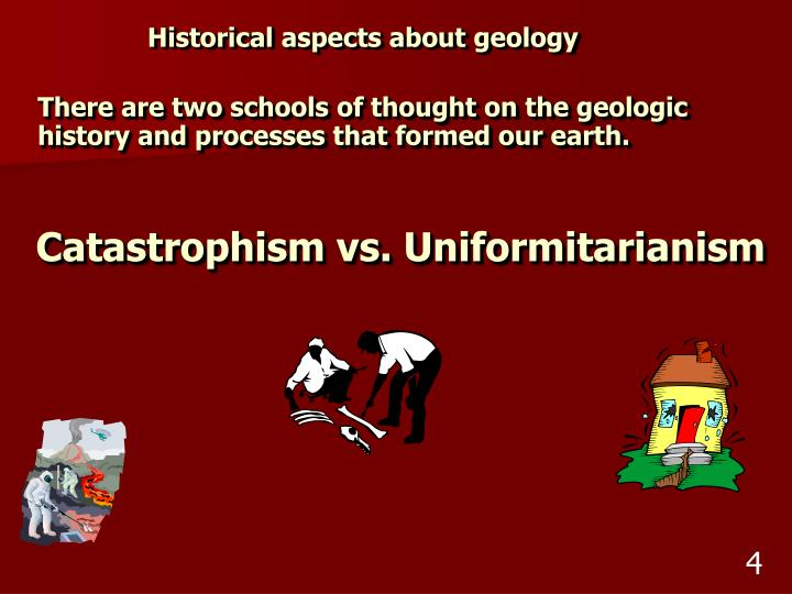Historical aspects about geology