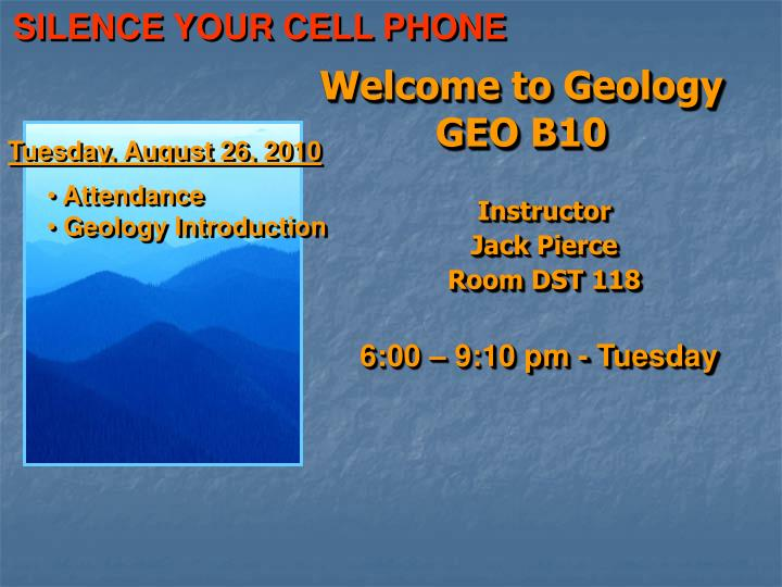 Welcome to geology geo b10