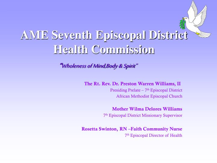 ame seventh episcopal district health commission