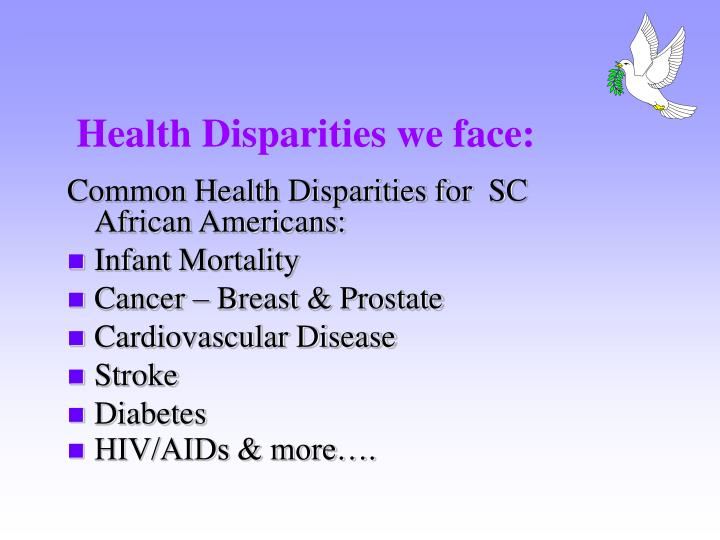 Health disparities we face