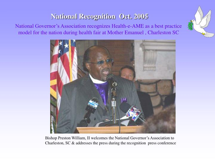 National Recognition  Oct. 2005