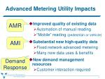 advanced metering utility impacts
