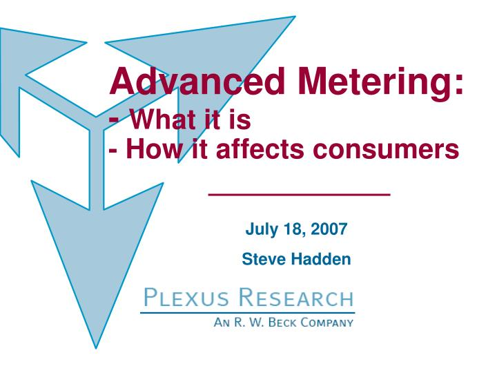 Advanced Metering: