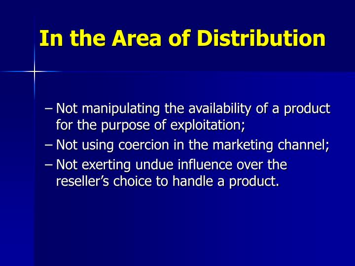 In the Area of Distribution