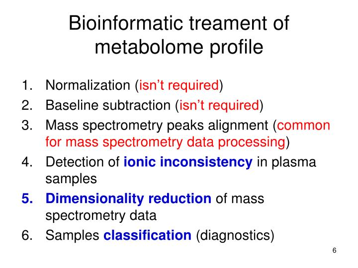 Bioinformatic treament