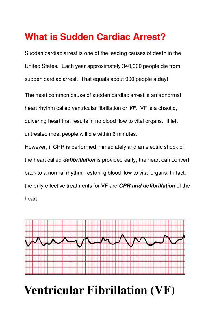What is Sudden Cardiac Arrest?