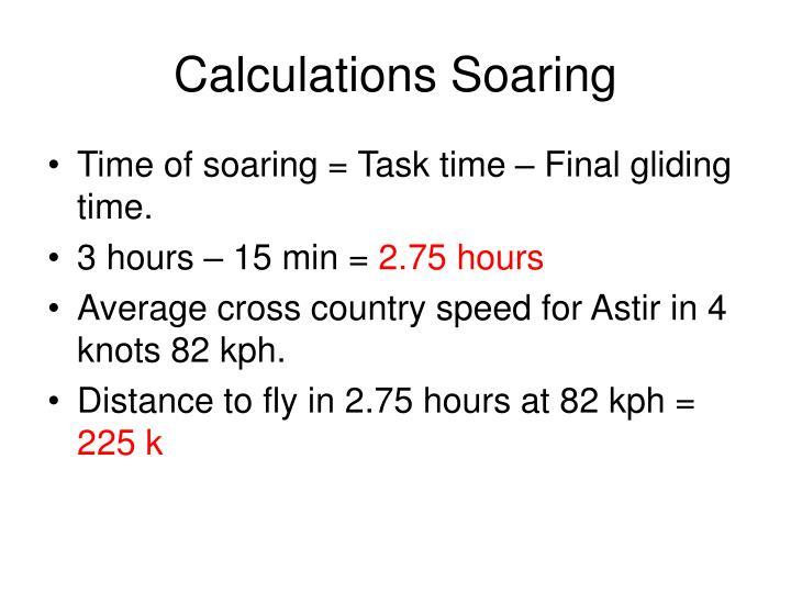 Calculations Soaring