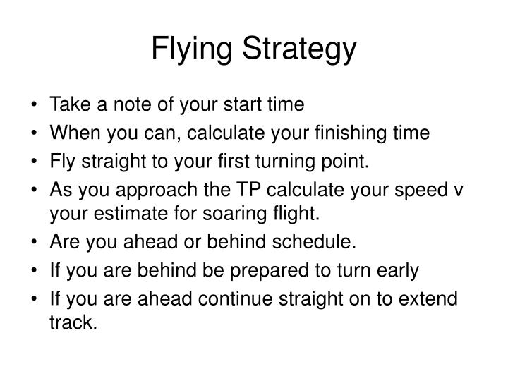 Flying Strategy