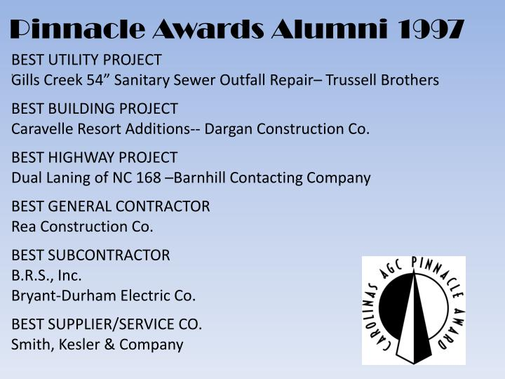 Pinnacle Awards Alumni 1997